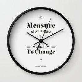Einstein Quote, words of wisdom Wall Clock