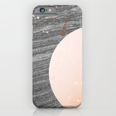 Rising moon over marble Slim Case iPhone 6