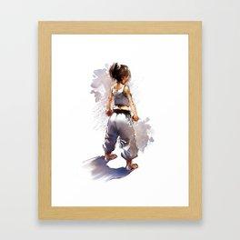 Karate Girl 2 ! Framed Art Print