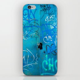 Urban Blue Style Street Graffiti iPhone Skin