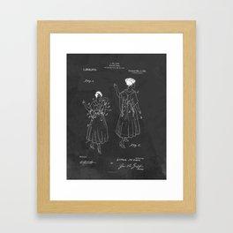 Vintage Fashion Negligee Patent Framed Art Print