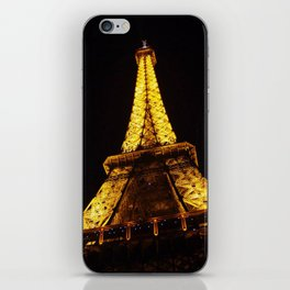 Eiffel Tower at Night iPhone Skin
