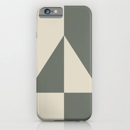 Green Buff Tan Minimal Triangle Design 2021 Color of the Year Contemplative Bleached Pebble iPhone Case