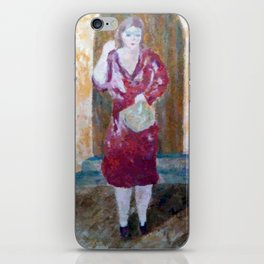 Woman in red iPhone Skin