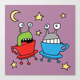 Space MiniMonsters Canvas Print