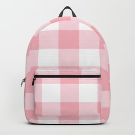Coral Gingham Pattern Backpack