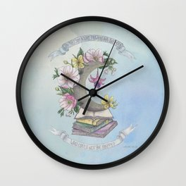 Freedom, Books, Flowers and The Moon Wall Clock