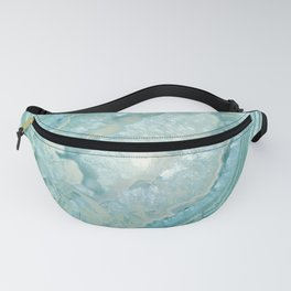 """""""Aquamarine Pastel and Teal Agate Crystal"""" Fanny Pack"""