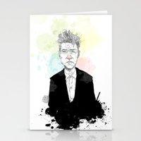 david lynch Stationery Cards featuring David Lynch by suPmön