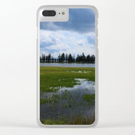Yellowstone Lake At Pelican Creek Clear iPhone Case