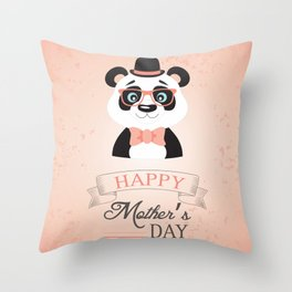 Happy Mother's Day ~ Panda Throw Pillow
