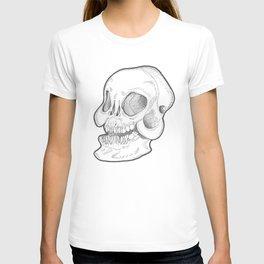 Black and white happy smiley Skull T-shirt
