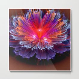 Neon Flower - A Vision all Aglow Metal Print
