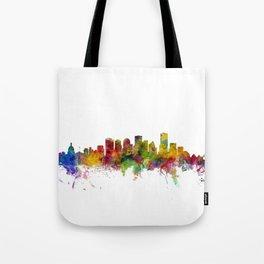 Edmonton Canada Skyline Tote Bag