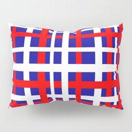 Patriotic Interlocking Stripes Pillow Sham