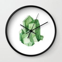 Watercolor Emerald Cluster Wall Clock