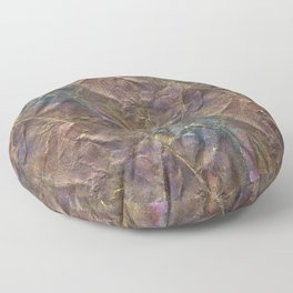 Crumpled Brown and Purple Floor Pillow