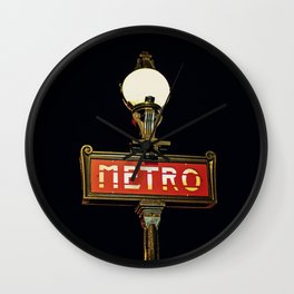 Metro - Paris Subway Sign Wall Clock