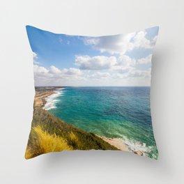 Seascape Rosh Hanikra Throw Pillow