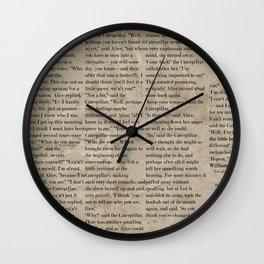 Alice and the Hookah Smoking Caterpillar  Wall Clock