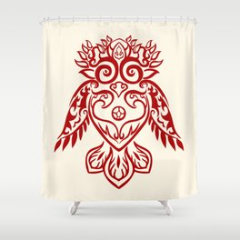 Forest Owl Shower Curtain
