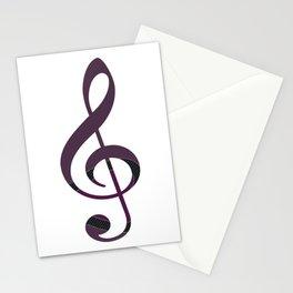 Fancy Treble Clef Stationery Cards