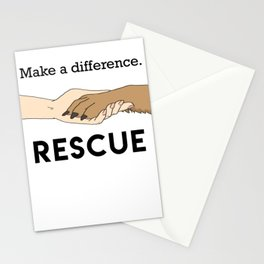 Animal Rescue - Paw Art (Dark Edition) Stationery Cards
