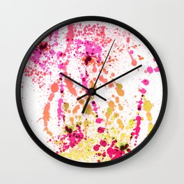 Uplifting Heat - Abstract Splatter Style Wall Clock