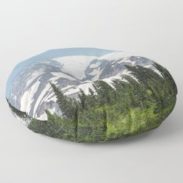 Mount Rainier National Park Floor Pillow