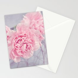 Pale Pink Carnations Stationery Cards