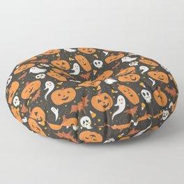 Pumpkin Party - Black Floor Pillow