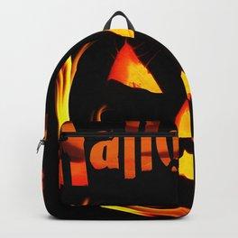 halloween pumpkin horror creepy Backpack