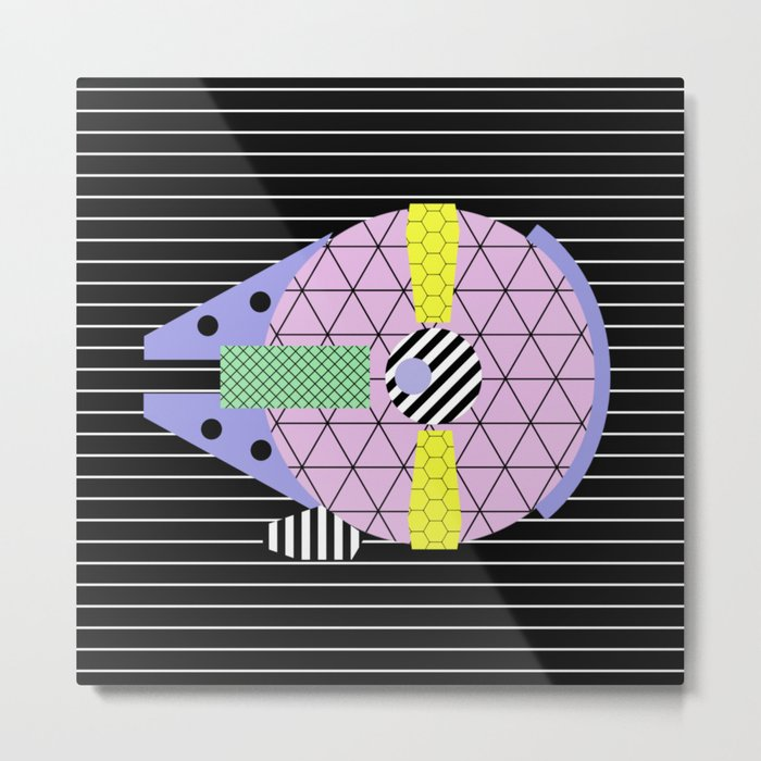 Millennium Falcon Geometric Style - Pastel, abstract design Metal Print