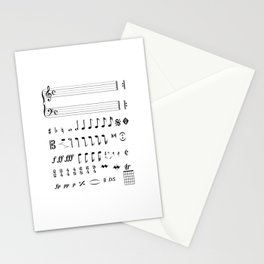 Musical Notation Stationery Cards