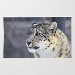 Concerned Mama Snow Leopard Rug