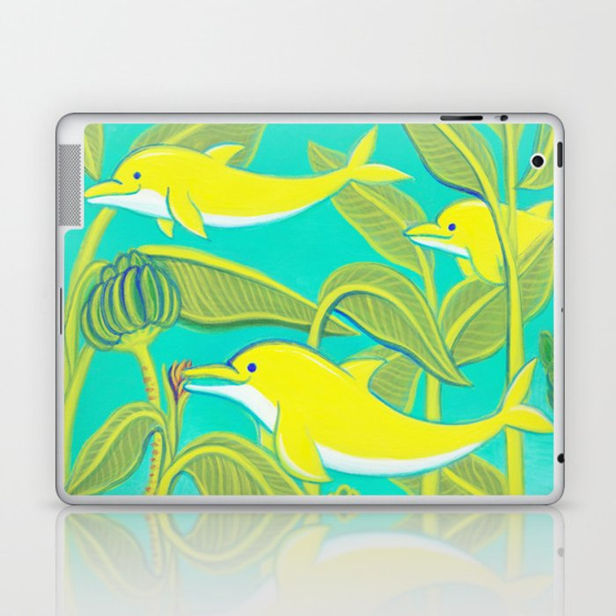Lucky dolphins Laptop & iPad Skin