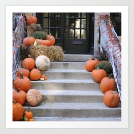 Autumn Photography - Entrance To A Halloween House Art Print