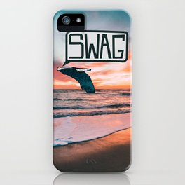 Swag Whale iPhone Case