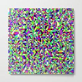 Neon Perforation Metal Print