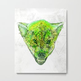 Jungle Wolf Metal Print