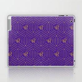 Gold geometric Ek Onkar / Ik Onkar  pattern on violet Laptop & iPad Skin