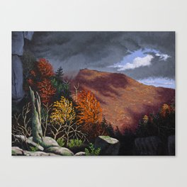Passing storm, Thacher Park, Albany Canvas Print