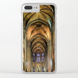 Notre Dame de Paris interior Clear iPhone Case