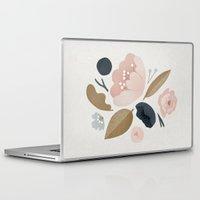 vintage flowers Laptop & iPad Skins featuring vintage flowers; by Pink Berry Patterns