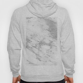 Marble - Silver and White Marble Pattern Hoody