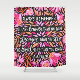 Always Remember – Pink & Charcoal Palette Shower Curtain