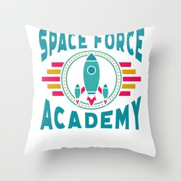 Space Force Academy Art, Vintage Retro Novelty Gift Light Throw Pillow