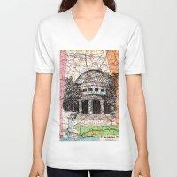 alabama V-neck T-shirts featuring Alabama by Ursula Rodgers