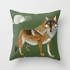 Wolves of the World: Carpathian wolf (Canis lupus lupus) (c) 2017 Throw Pillow