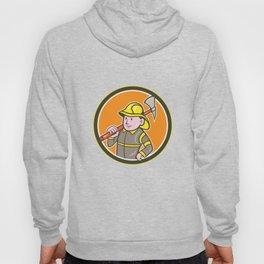 Fireman Firefighter Axe Circle Cartoon Hoody